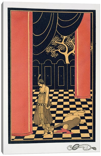 Tamara Karsavina  in the title role of 'Thamar', 1914  Canvas Art Print