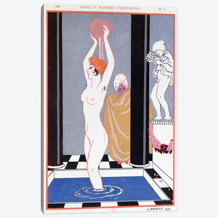The Basin, 1914  Canvas Print #BMN10396} by George Barbier Canvas Artwork
