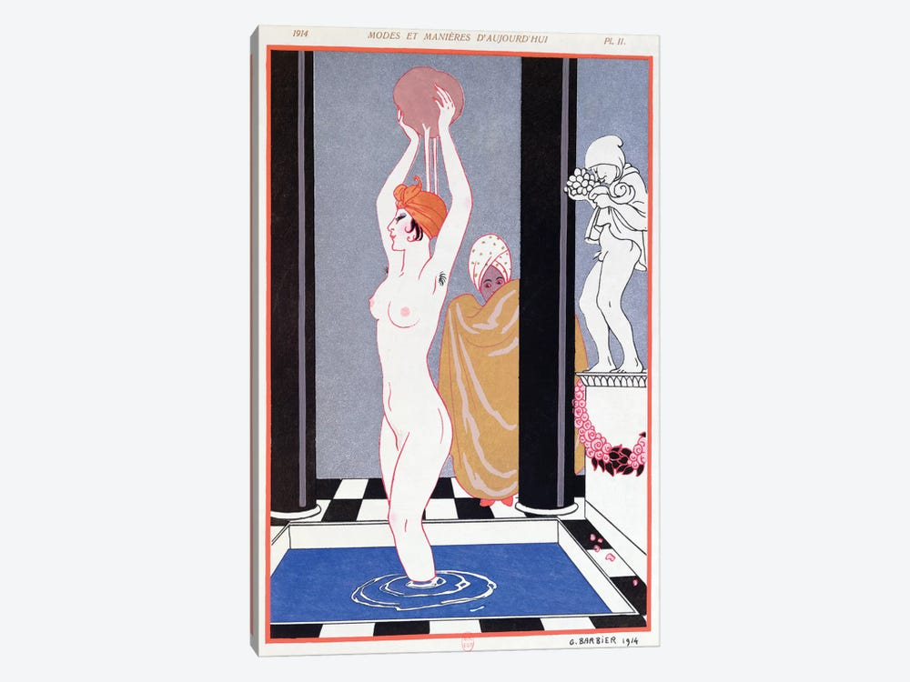 The Basin, 1914  by George Barbier 1-piece Canvas Art Print