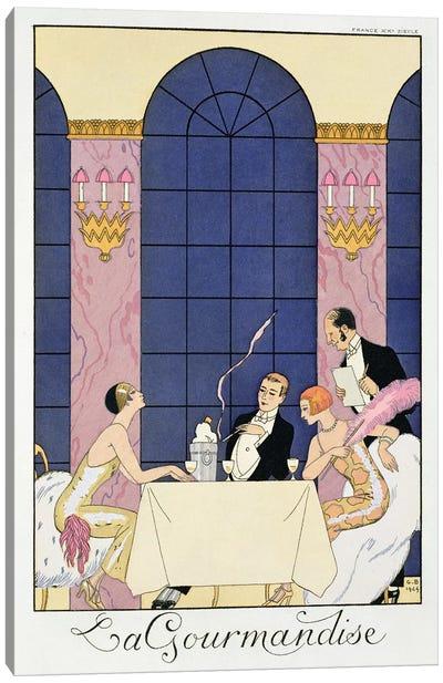The Gourmands, 1920-30  Canvas Art Print