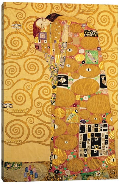 Fulfilment  by Gustav Klimt Canvas Art Print