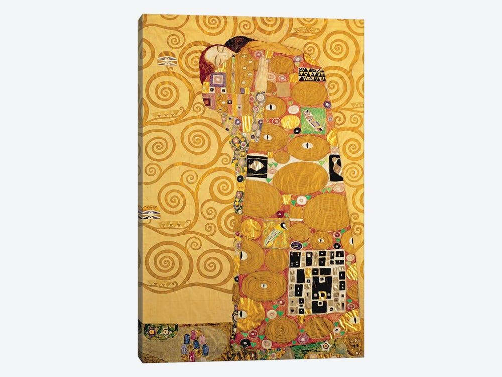 Fulfilment  by Gustav Klimt 1-piece Canvas Art Print