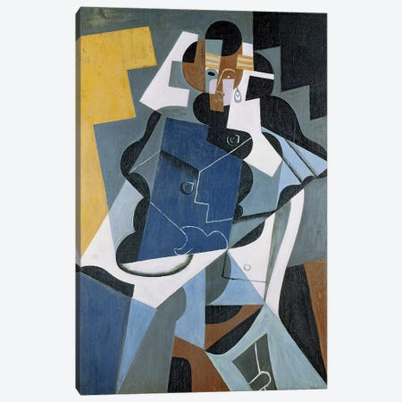 Figure of a Woman, 1917 (oil on canvas) Canvas Print #BMN103} by Juan Gris Canvas Art Print