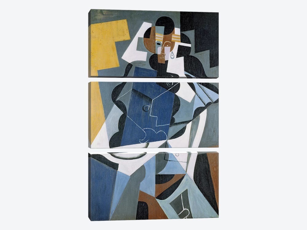 Figure of a Woman, 1917 (oil on canvas) by Juan Gris 3-piece Canvas Art Print