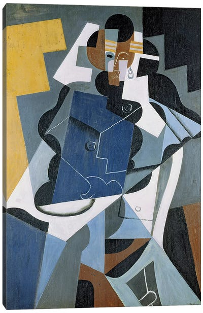 Figure of a Woman, 1917 (oil on canvas) Canvas Art Print