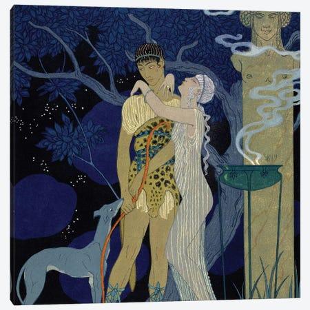 Venus and Adonis  Canvas Print #BMN10404} by George Barbier Canvas Art