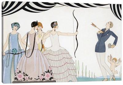 Visez au coeur, belles dames!, engraving by H. Reidel, 1924  Canvas Art Print