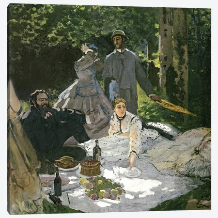 Dejeuner sur l'Herbe, Chailly, 1865  Canvas Print #BMN1040} by Claude Monet Canvas Art