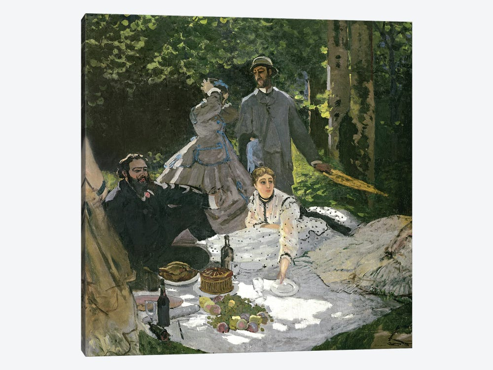 Dejeuner sur l'Herbe, Chailly, 1865  by Claude Monet 1-piece Canvas Print