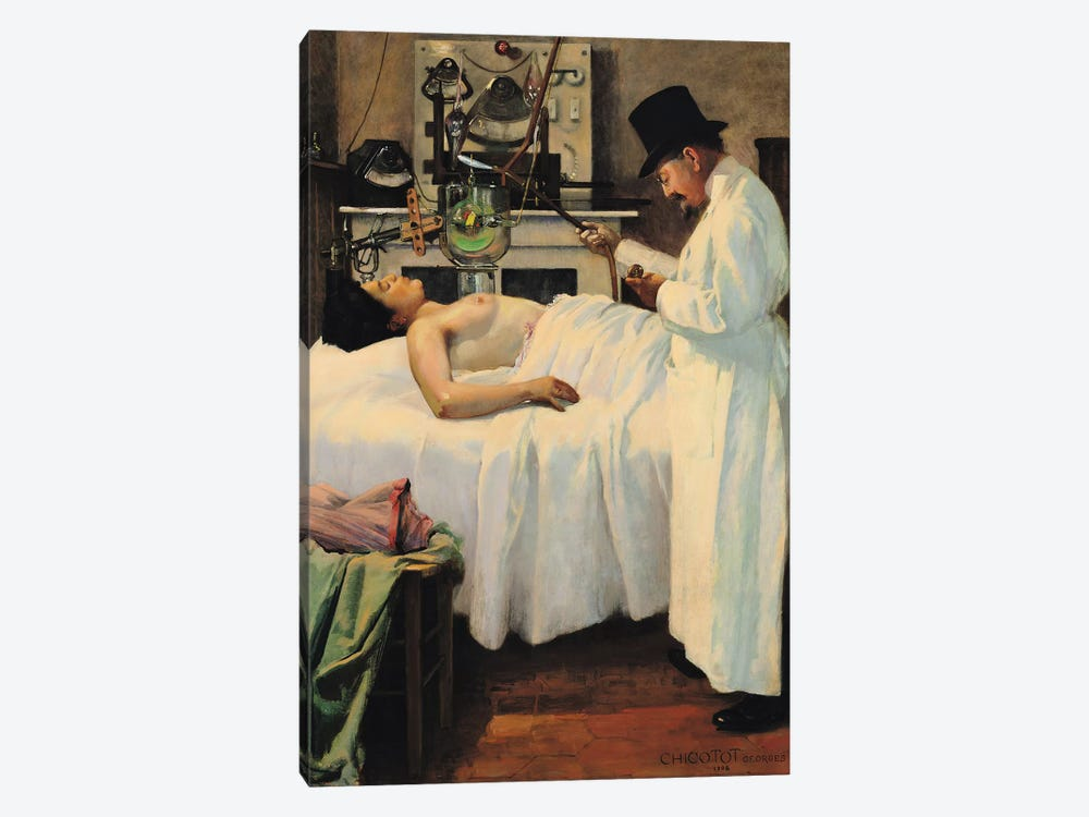 The First Attempt to Treat Cancer with X Rays by Doctor Chicotot, 1907  by Georges Chicotot 1-piece Canvas Artwork