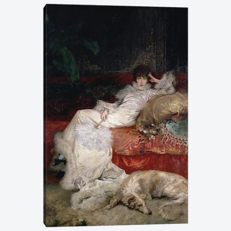 Sarah Bernhardt  1876  Canvas Print #BMN10413} by Georges Clairin Canvas Artwork