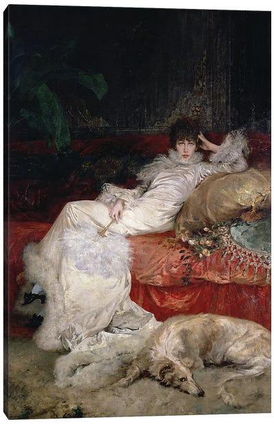 Sarah Bernhardt  1876  Canvas Art Print