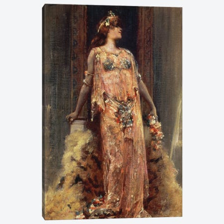 Sarah Bernhardt  in the role of Cleopatra  Canvas Print #BMN10414} by Georges Clairin Art Print