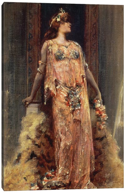 Sarah Bernhardt  in the role of Cleopatra  Canvas Art Print