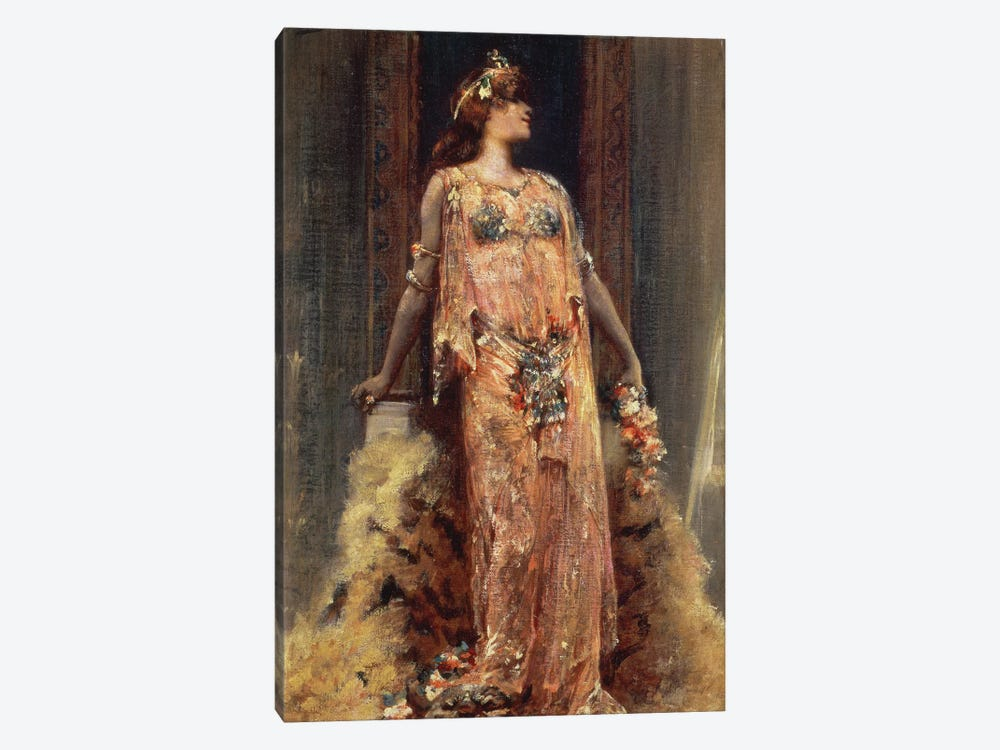 Sarah Bernhardt  in the role of Cleopatra  by Georges Clairin 1-piece Canvas Wall Art