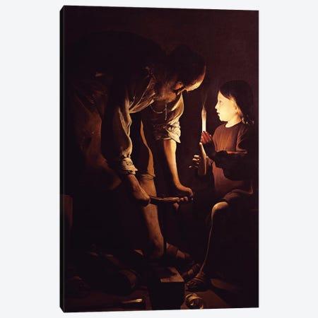 St. Joseph, the Carpenter, c.1640  Canvas Print #BMN10416} by Georges De La Tour Canvas Art Print