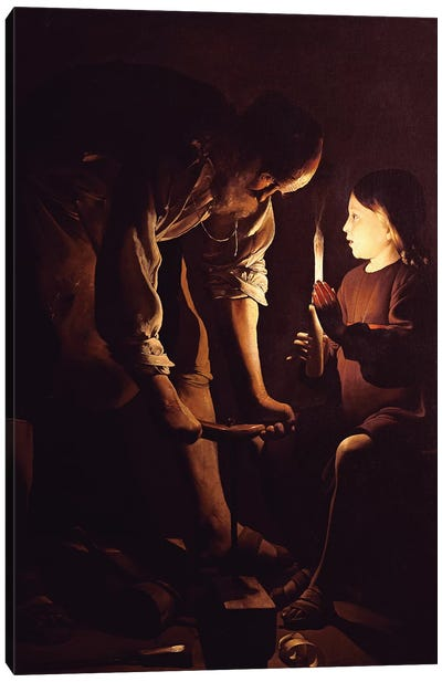St. Joseph, the Carpenter, c.1640  Canvas Art Print