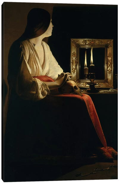 The Penitent Magdalen, c.1640  Canvas Art Print