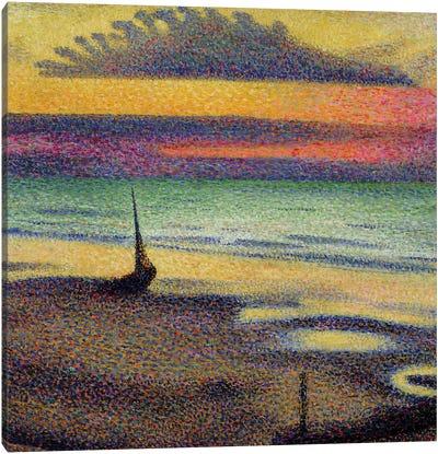 The Beach at Heist, 1891-92  Canvas Art Print