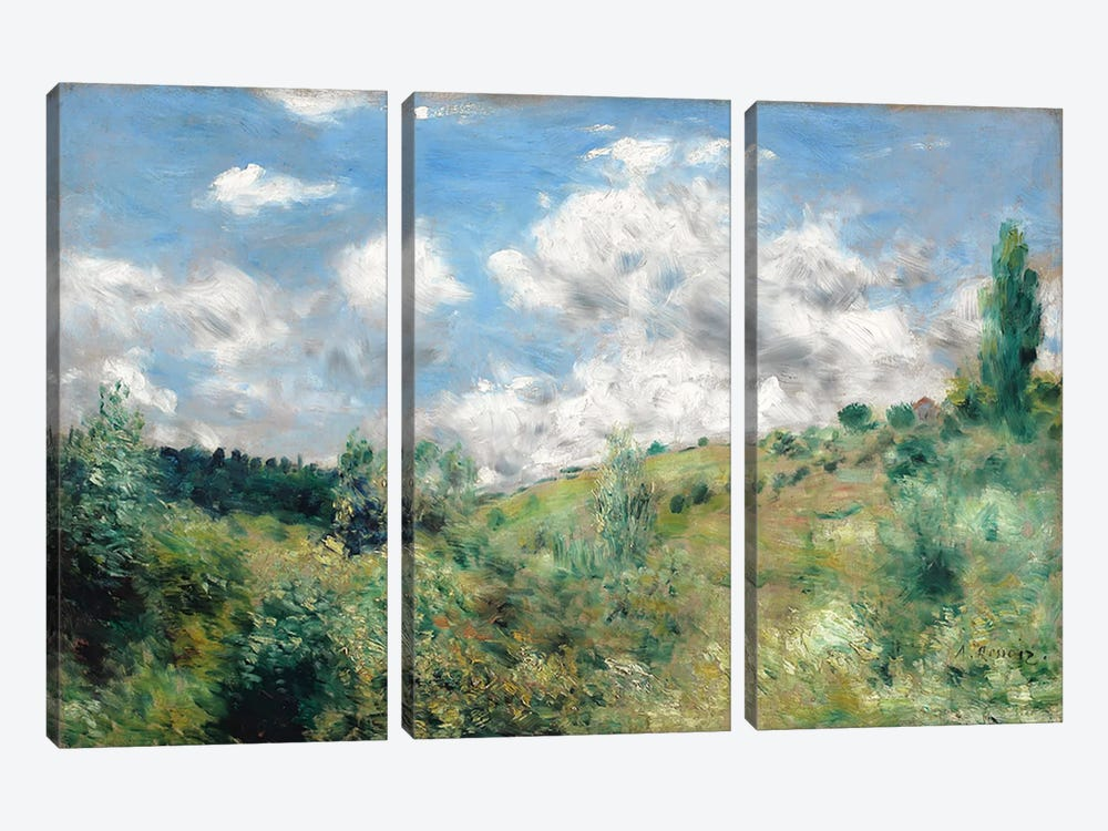 The Gust of Wind, c.1872  by Pierre-Auguste Renoir 3-piece Canvas Print