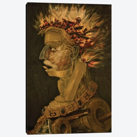 Fire, 1566  Canvas Print #BMN10430} by Giuseppe Arcimboldo Canvas Artwork