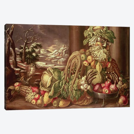 Winter  Canvas Print #BMN10440} by Giuseppe Arcimboldo Art Print