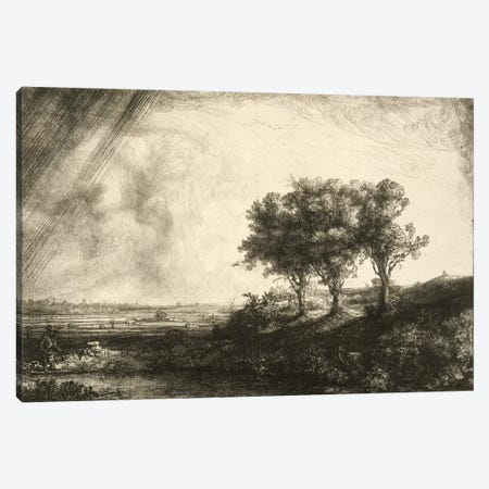 23.K5-292 The Three Trees  Canvas Print #BMN1044} by Rembrandt van Rijn Canvas Art Print