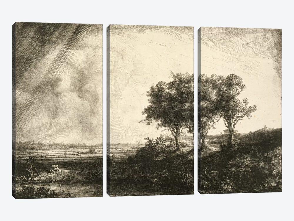23.K5-292 The Three Trees  by Rembrandt van Rijn 3-piece Art Print