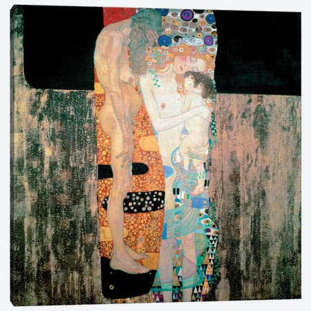 The Three Ages of the Woman, 1905 Canvas Print #BMN10457} by Gustav Klimt Art Print