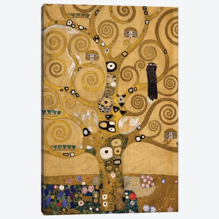 Tree of Life  detail of the left hand side, c.1905-09  Canvas Print #BMN10459} by Gustav Klimt Canvas Artwork