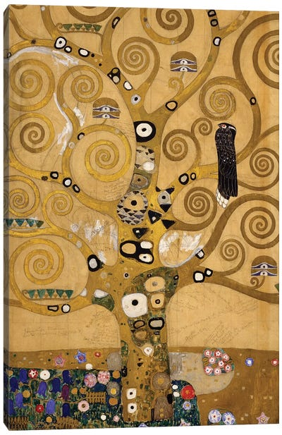 Tree of Life  detail of the left hand side, c.1905-09  Canvas Art Print