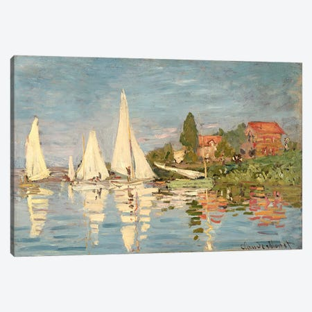 Regatta at Argenteuil, c.1872  Canvas Print #BMN1045} by Claude Monet Canvas Art Print