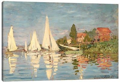 Regatta at Argenteuil, c.1872  Canvas Art Print