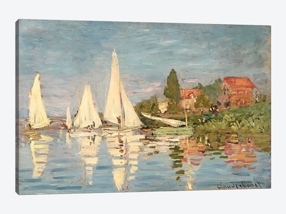 Regatta at Argenteuil, c.1872  by Claude Monet 1-piece Canvas Artwork