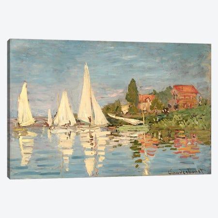 Regatta at Argenteuil, c.1872  Canvas Print #BMN1045} by Claude Monet Canvas Art Print