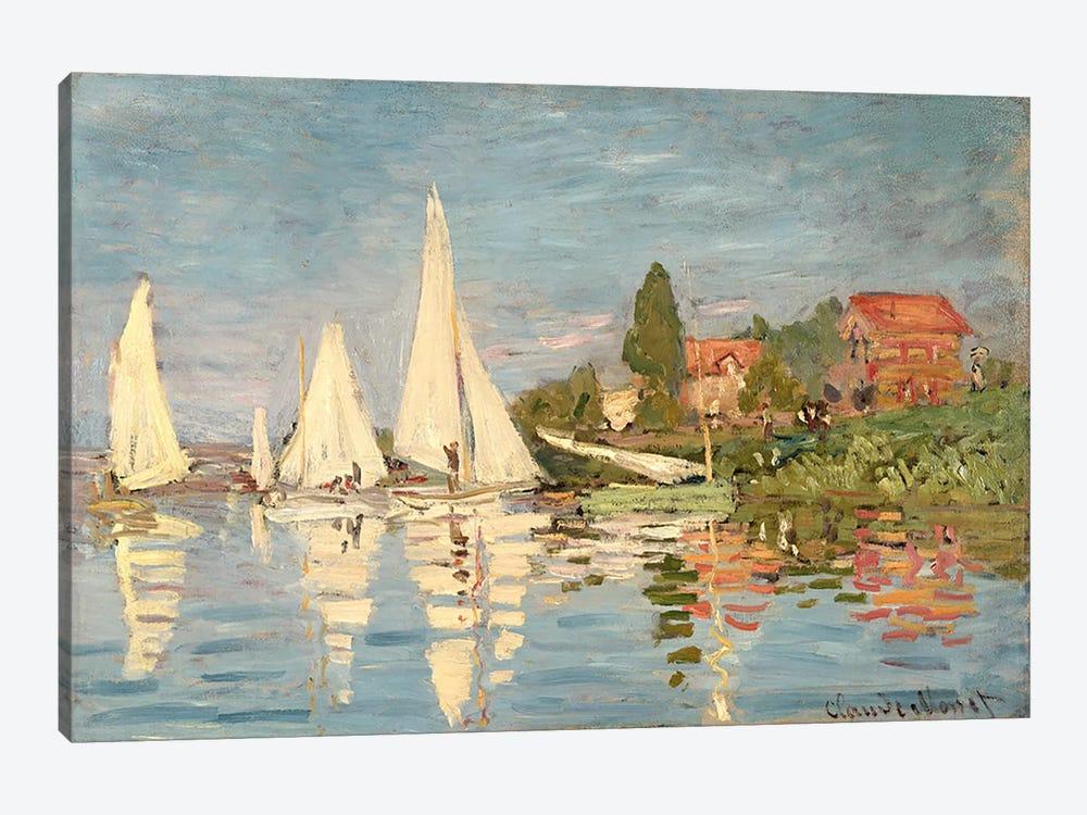 Regatta at Argenteuil, c.1872  by Claude Monet 1-piece Canvas Artwork