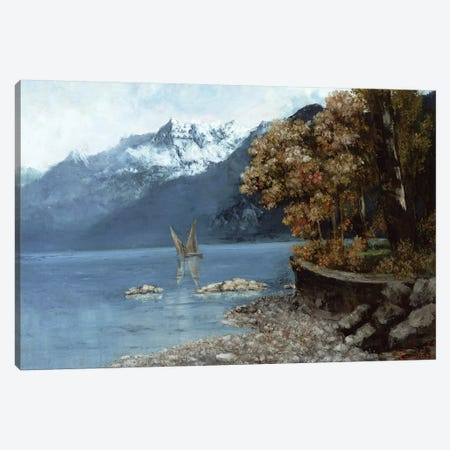 Lake Leman, 1874  Canvas Print #BMN10462} by Gustave Courbet Canvas Print