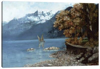 Lake Leman, 1874  Canvas Art Print