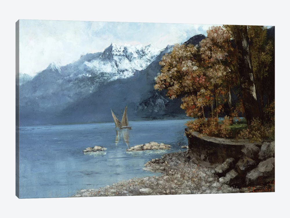 Lake Leman, 1874  by Gustave Courbet 1-piece Canvas Art Print