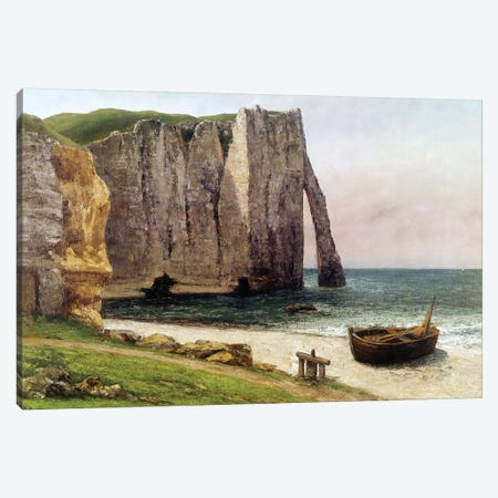 The Cliffs at Etretat, 1869  Canvas Print #BMN10465} by Gustave Courbet Canvas Artwork