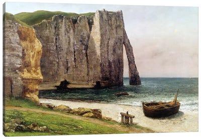 The Cliffs at Etretat, 1869  Canvas Art Print