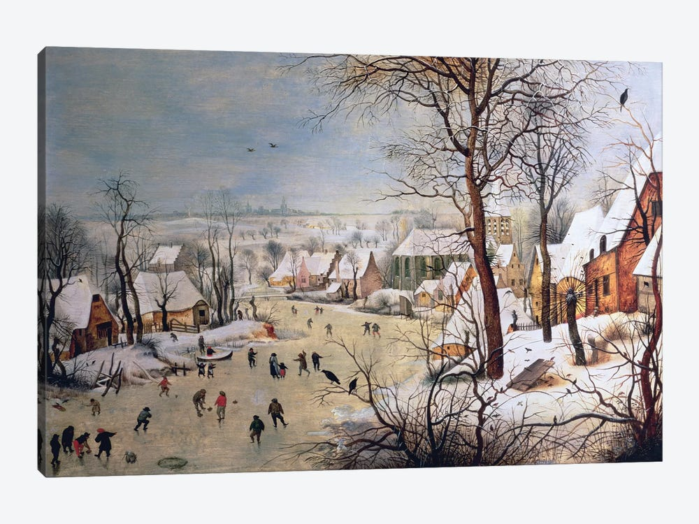Winter Landscape with Birdtrap, 1601  by Pieter Brueghel the Younger 1-piece Canvas Art Print