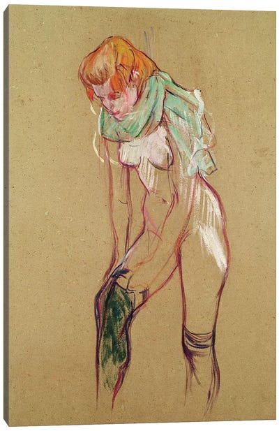 Woman Pulling Up her Stocking, 1894  Canvas Art Print