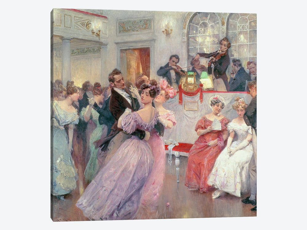 Strauss and Lanner - The Ball, 1906 by Charles Wilda 1-piece Canvas Artwork