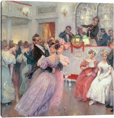 Strauss and Lanner - The Ball, 1906 Canvas Art Print
