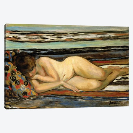 Nude Woman Sleeping; Nu Allonge,  Canvas Print #BMN10484} by Henri Lebasque Canvas Art