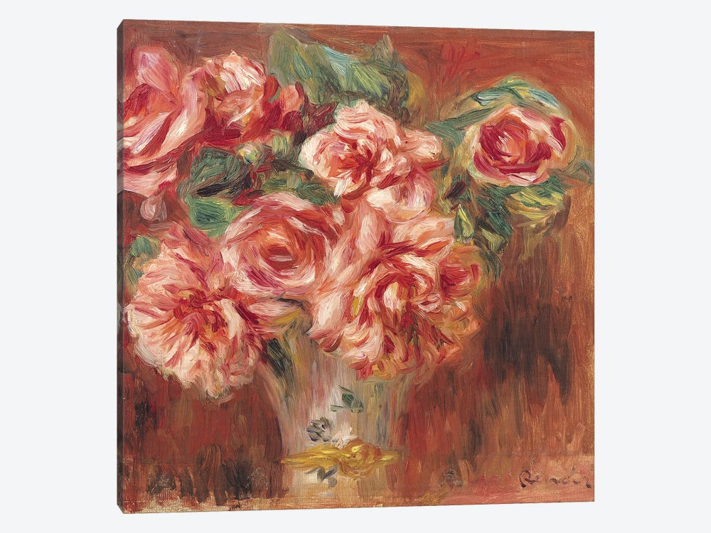 Roses in a Vase, c.1890  by Pierre-Auguste Renoir 1-piece Art Print