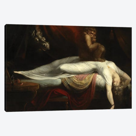 The Nightmare, 1781  Canvas Print #BMN10491} by Henry Fuseli Canvas Artwork