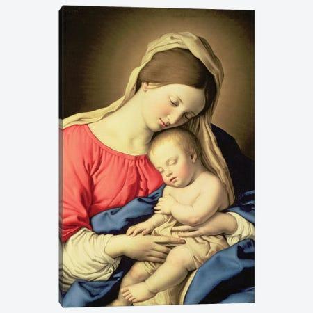 Madonna and Child Canvas Print #BMN10496} by Il Sassoferrato Canvas Art Print