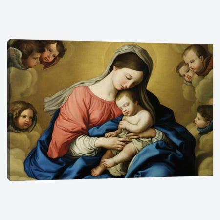 Madonna and Child  Canvas Print #BMN10497} by Il Sassoferrato Canvas Print